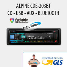 Autoradio 1 DIN ALPINE CDE-203BT USB �€� BLUETOOTH �€� AUX 2 PRE OUT