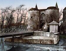 Ghent Gate, Bruges, Belgium - ca. 1890 - Historic Photo Print