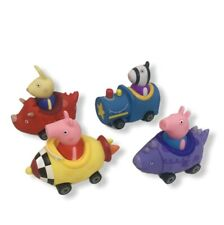 Peppa Pig Mini Buggies World of Peppa George Zoe Richard Cars Buggy NEW Set of 4