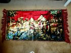 Vintage Wall Hanging/ Rug Velvet Tapestry W/Pyramid, Camel, and Sheikh.