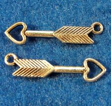 10Pcs. Tibetan Silver 3D ARROW Archery Charms Pendants Earring Drops W79