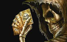 "3.25"" GRIM REAPER DEAD MANS HAND Sticker / Decal Computer Angel of Death"