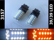 2 x 3157 3457 3047 3357 4157 39/39 white amber switchback led turn signal type 1