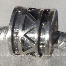 Biagi Bead Sterling Silver, Triangle Band Charm Fashion Charm Jewelry B-BS216