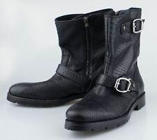 New JIMMY CHOO Black Python Snakeskin Boots Shoes Size 7.5 US 40.5 EU