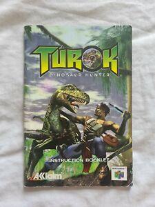 TUROK DINOSAUR HUNTER Nintendo 64 N64 PAL version original manual