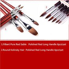 Sale Top Quality Artist Paint Brush Set 12Pcs for Oil Acrylic Gouache Watercolor