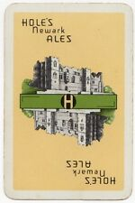 Playing Cards 1 Swap Card - Old Vintage HOLE'S Brewery NEWARK ALES Beer CASTLE