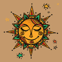 3D Sun god cartoon stars Wall Stickers Vinyl Murals Wall Print Deco AJSTORE UK