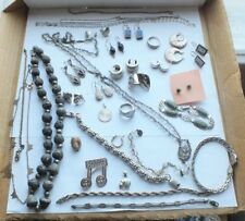 Antique and Vintage STERLING silver Jewelry lot HUGE LOOK!!! 256.4g