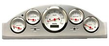 1957 Ford Car 5 Gauge Metric Dash Panel Insert Cluster Set Billet White