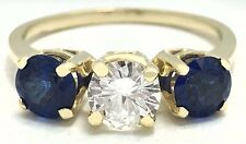 GENUINE 0.65 Carats DIAMOND & TANZANITE RING 14k GOLD *FREE SHIPPING & APPRAISAL