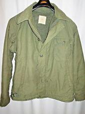 Vintage A-2 Deck Jacket Pile lined Size L  Woodland A2 A-1 USN USAF US Military