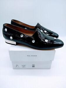Paul Andrew Women Ive Stones Slip On Flats Glossy Patent Black EUR 40 US 10 $745