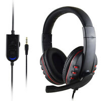 Gaming Headset Stereo Surround Headphone 3.5mm Wired Mic For PS4 PC Xbox one SPE