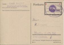 Lokal Fredersdorf Sp 247 auf Torgow-Karte nach Berlin BPP-geprüft (B08529)