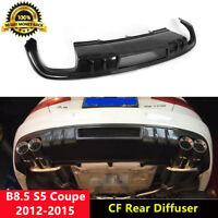 B8.5 S5 Rear Diffuser Spoiler Carbon Fiber for Audi S5 Coupe 2012-2015 D Style