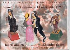 CATALOGUE DE VENTE. CHARTRES. JOUETS ANCIENS. 13-14-NOV 1999.  *** REF 4853