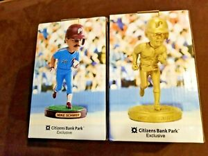 ⚾BOTH NICE!⚾ Mike Schmidt 500th HR Phillies 2017 Bobbleheads New in Boxes Gold