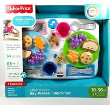 Fisher Price Smart Stages Laugh and Learn Say Please Snack Interactive Play Set