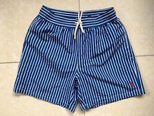 Polo Ralph Lauren Swim Shorts viajero Tronco Azul a Rayas Talla S o M