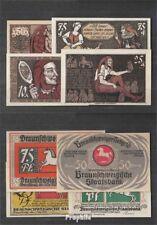 Deutsches Reich Notgeld: 155.1 Vier Notgeldscheine der Stadt Braunschweig bankfr