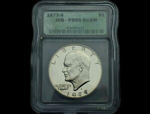 1977-S Eisenhower Dollar~PR69DCAM~Clad~Brilliant Proof~Ultra Gem++~Super NICE~!!