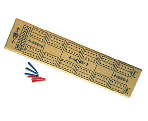 New Vintage Plastic Cribbage Board Pegs Crib Board 60 Holes For Pubs Clubs Bars