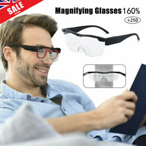 LED Magnifying Glass Magnification 160% Magnifying Glass Glasses with LED Light