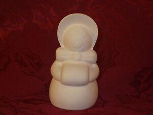 3D 6 Stack of Penguin Heads D433 Ceramic Bisque Ornament