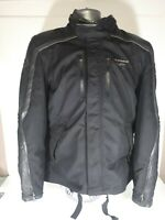 Spidi Super Leather Motorcycle Motorbike Touring  Jacket Black Gray size XL