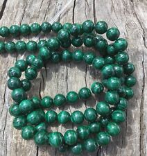 "6mm Natural Green African Malachite Round Beads 15"" Strand Oz Seller"