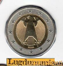Allemagne 2008 2 Euro J Hambourg BU FDC provenant coffret 55600 exemplaires