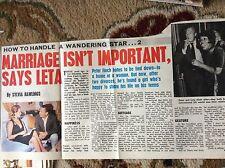 U2-1 ephemera 1971 picture article leta barrett peter finch