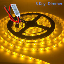 Waterproof Amber LED Strip Light 12V 5M 2835 SMD 300 Leds Lights + Dimmer