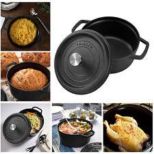 4.5 Quart Cast Iron Dutch Oven Pot Cookware Lid Outdoor Home Kitchen Cooking