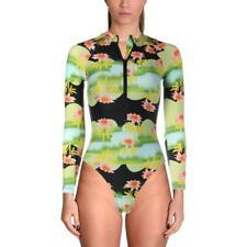 Cynthia Rowley Womens Swim Bathing Suit Size XS Green Floral Print - Retail $165