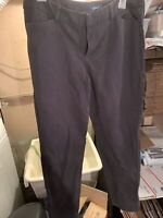 Old Navy Pixie Pants Mid Rise Off Black Stretch Career Womens Size 12