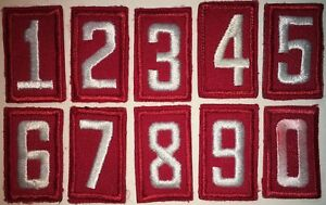 BSA Boy Scout of America Embroidered Red Troop Numbers Used