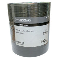 100x Falcon DVD+R DL 8.5gb Blank Shiny 8x - Highest Quality Dual Layer Ever!