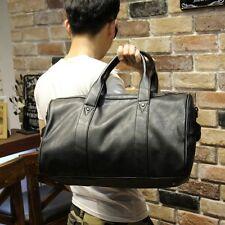 Fashion Men Leather Sport Duffle Gym Handbag Large Travel Luggage Shoulder Bag