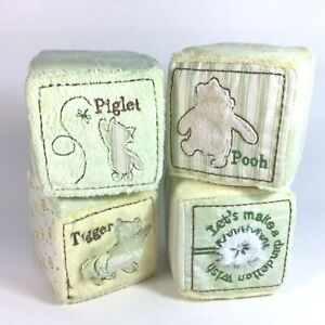 Classic Pooh Soft Block Set Toy Sensory Mirror Rattle Vibration Chime