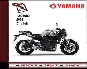 Yamaha FZS1000 FZS 1000 2006 Service Repair Workshop Manual