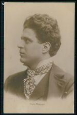 Pietro Mascagni Classic Music composer Italy original old c1910s photo postcard