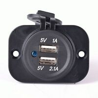 2.1A 12V KFZ Auto Steckdose Zigarettenanzünder Ladegerät Dual USB Buchse