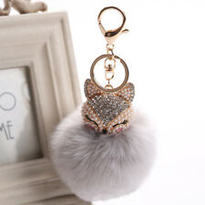 Faux Fur Pom Pom Key Chain Cartoon Pendant Key Rings Key Holder Bag Accessories