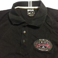 Vtg USAW Folkstyle Wrestling Nationals SS Black polo shirt adidas mens XL