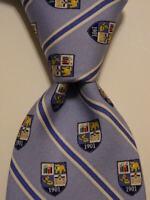VINEYARD VINES Custom Collection Mens 100% Silk Necktie Geometric Blue/White GUC