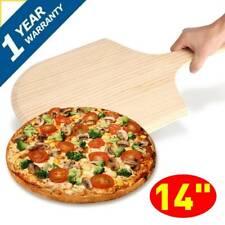14 inch Pizza Peel Shovel Paddle Pancake Oven Baking Tools Wooden Bread Tray UK