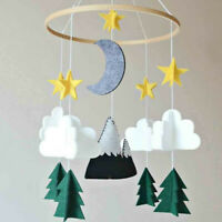 Boy/Girls Baby 3 D Crib Mobile Woodland Night Nursery Mobile Room Bed Decor Felt